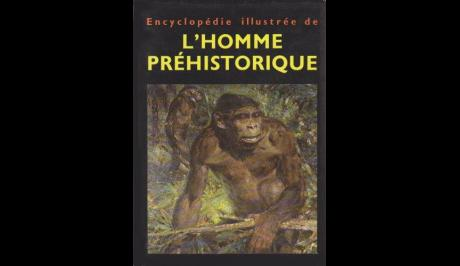 Book cover of the illustrated encyclopedia of prehistoric man