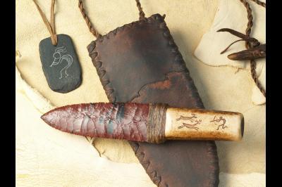 Couteau à lame en obsidienne «Le chasseur de cerf»