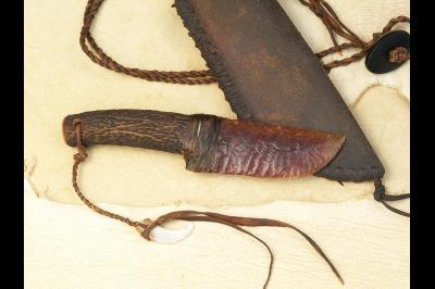 Couteau à lame en silex «Le chasseur»