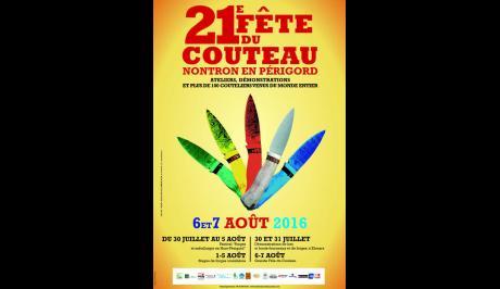 Affiche de la fête du couteaux de Nontron 2016