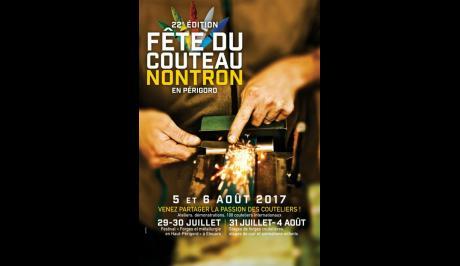 Affiche de la 22e édition de la fête du couteau de Nontron